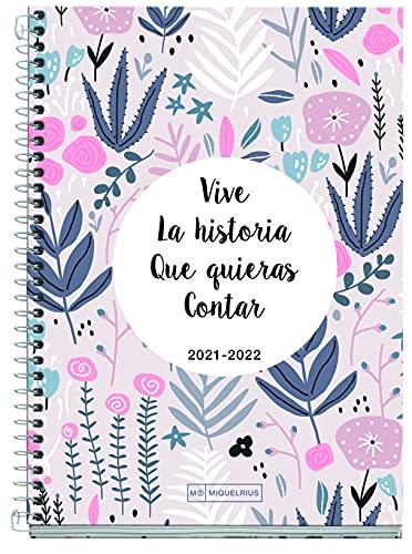 MIQUELRIUS - Agenda Escolar 2021-2022 - Tamaño PLUS 15 x 21,3 cm, Semana Vista, Teen La Historia, Idioma Catalán