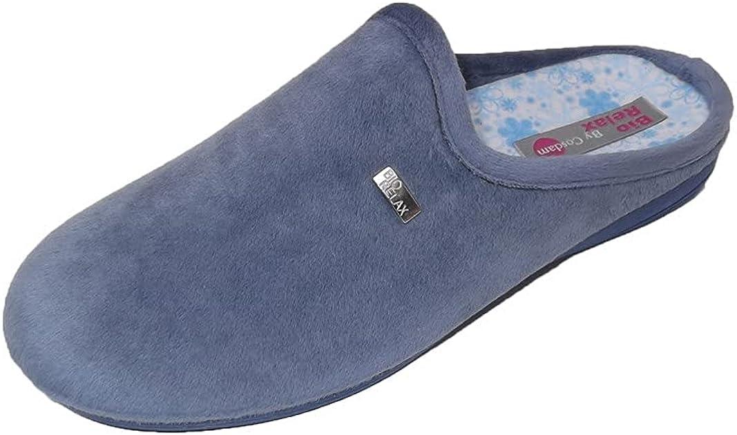 Zapatillas de estar por casa/Mujer/Biorelax/Apto plantilla ortopedica/Plantilla extraible/Empeine :Algodón Rizo/Primavera/Verano