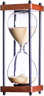 Bellaware Large Hourglass Timer, 30 Minutes Wooden Sand Timer, Gift Box Packing, Yellow