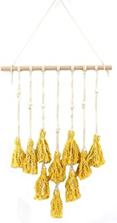 "24""LX18""W Modern Macrame Wall Hanging, Boho Home Decor, Woven Cotton Handmade Wall Hanging"