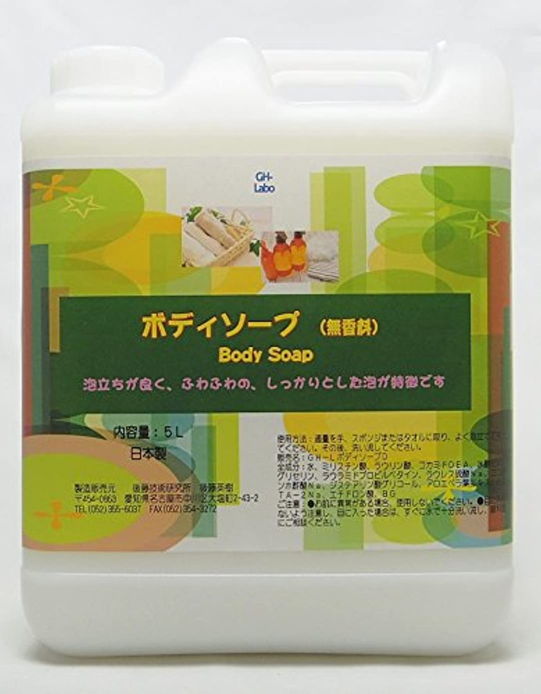 ストラップボア炎上GH-Labo 業務用ボディソープ 無香料 5L