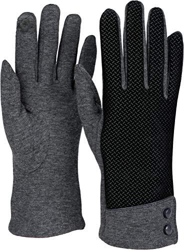 styleBREAKER Dames touch screen handschoenen met rimpelpatroon en fleece voering, warme thermische handschoenen, winter 09010029