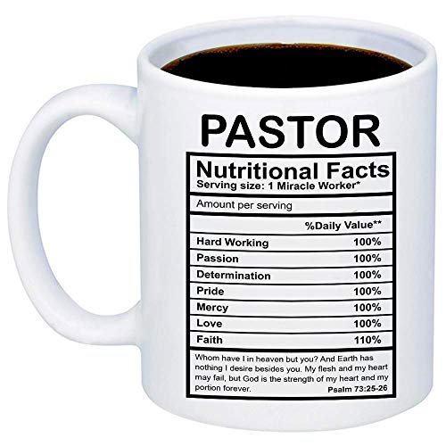 MyCozyCups Gifts For Pastor - Pastor Nutritional Facts...