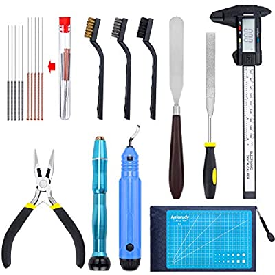 WiMas 35PCS 3D Printer Accessories Tool Kit, 3D Print Tool Kit Debur Tool, Cleaning and Removal Tool with Storage Bag for Cleaning, Printing, Finishing and 3D Printer