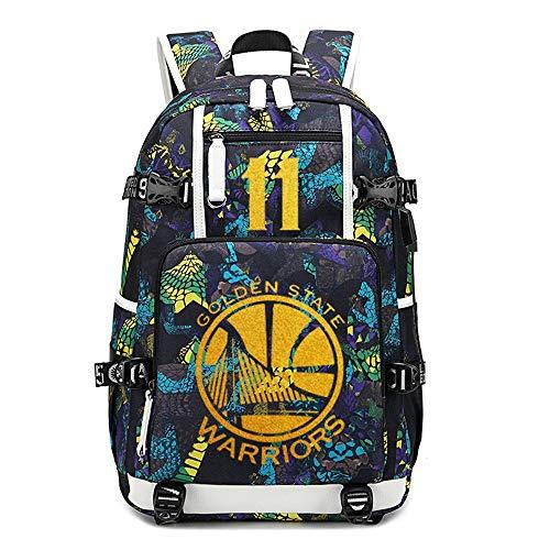 NBA Warriors Mochila Escolar Mochila Mochila Hombres y Mujeres Estudiantes Bolsa de Gran Capacidad A16
