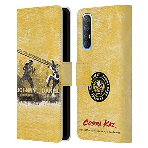 Head Case Designs Licenza Ufficiale Cobra Kai all Valley Karate Championship Grafiche 2 Cover in Pelle a Portafoglio Compatibile con Oppo Find X2 Neo 5G