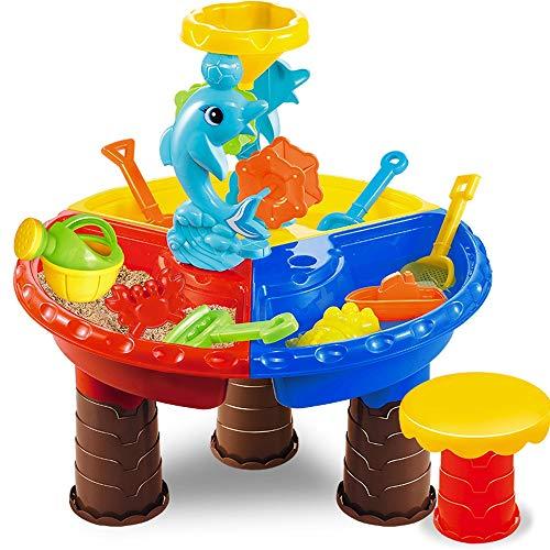 Msddc Beach Kids Jouets Ensemble, Les garçons et Les Filles Dig Sable, Table, Forme coloré, Mignon Convient for Les bébés de Plus de 3 Ans