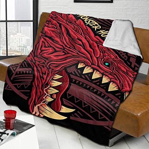 zblin Odogaron Monster Hunter Boutique Blankets Soft Comfortable Plush Microfiber Flannel Blanket 72x80inch