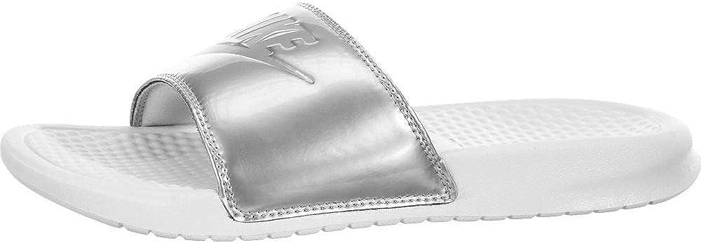 Nike Women's Benassi JDI Sandals White/Wolf Grey