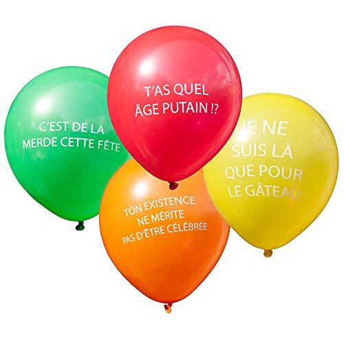TGO Ballons pour Une fête d'anniversaire Abusive Grossière et Vulgaire
