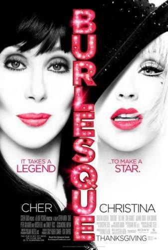 Burlesque Movie Poster Cher Christina Aguilera 24in x36in