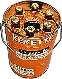 Seau La Kekette 2021 contenant 6 bières Kekette Blonde 25cl et un verre Kekette 25cl