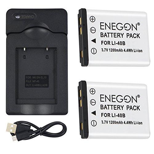 ENEGON Batería de Repuesto (Paquete de 2) y Conjunto de Cargador de USB para...