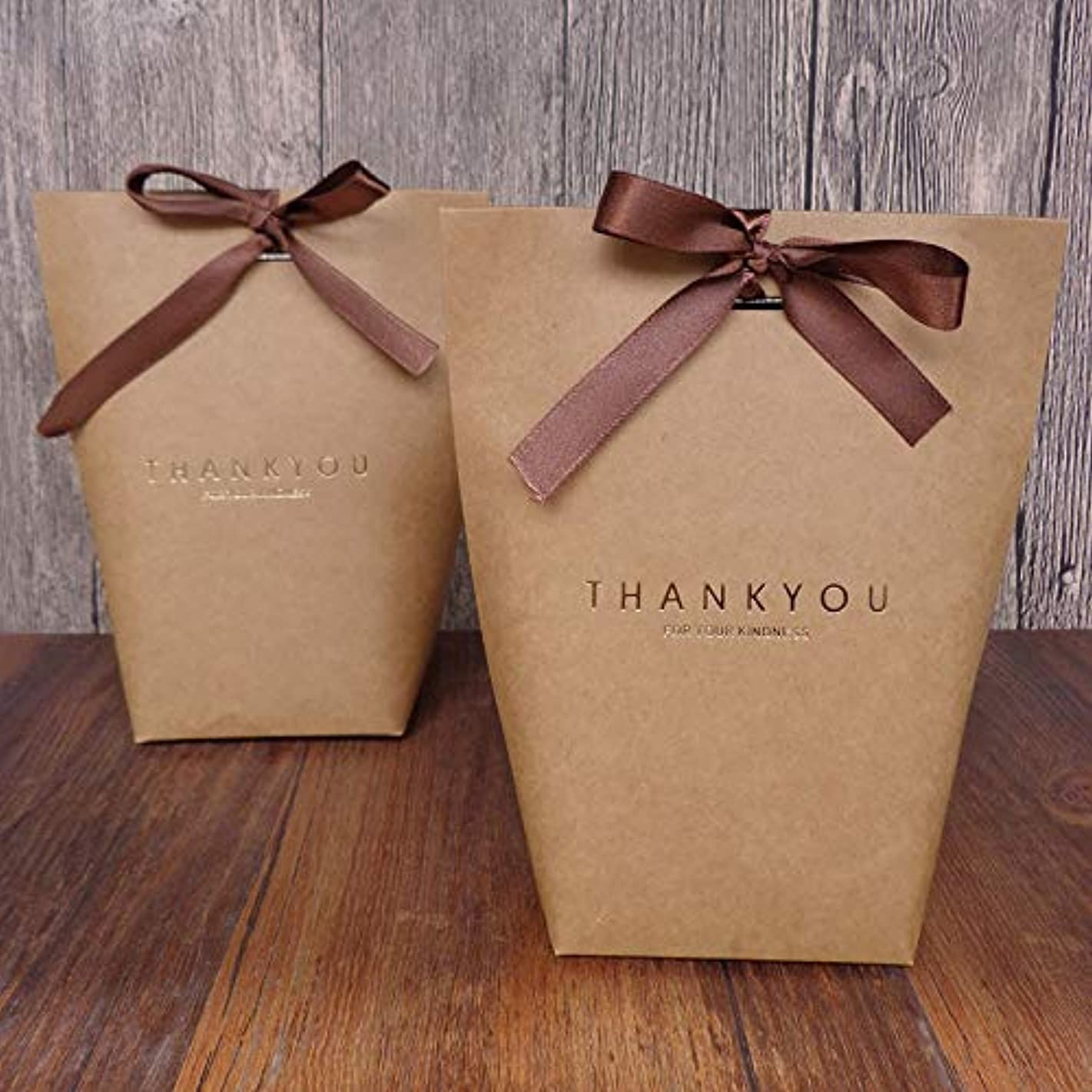 SHHS 9 PCS Thank You Gift Wrap Boxes Packing Bags(9 Brown), Minimalist Gift Boxes Easter, Decorative Presents Box Bundle for Packing Candy/Tie