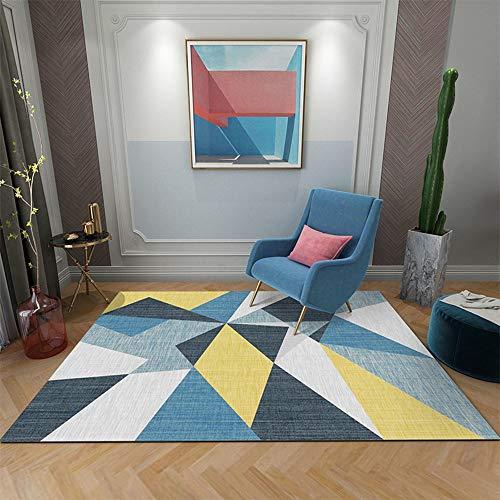 Zhao Li vloerbedekking woonkamer laagpolig tapijt gemakkelijk te reinigen slaapkamer Fluffy tapijt met dot kunststof antislip onderkant verdikte 0,31 inch comfortabele en duurzame tapijten
