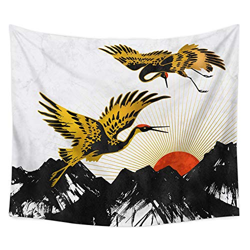 Brandless Mountain Tapestry Forest Tree Tapestry Sunset Tapestry Sitting Blanket Nature Landscape Wall Hanging Beach Towel