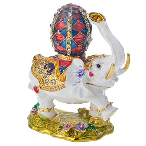 White Elephant Statue Crystal Elephant Figurine Home Decoration Elephant Gift for Women & Men