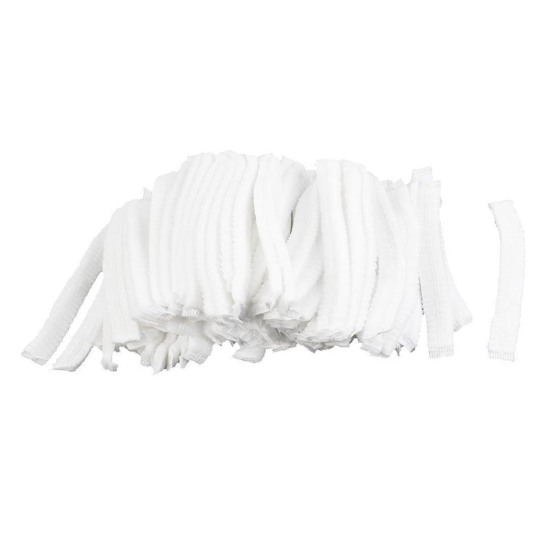 知る悪化させる地味なuxcell シャワーキャップ 白い 不織布 使い捨て 防塵 100個入り