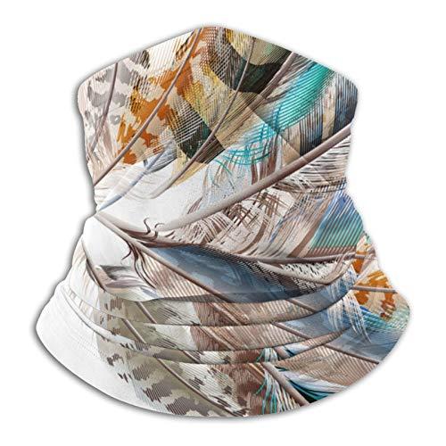 YBEAYQYXR Colorido pluma unisex de microfibra calentador de cuello protector solar resistente al viento pasamontañas diadema bufanda para exteriores