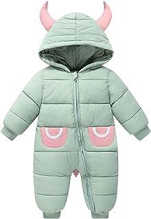 الشتاء طفلة بوي ماء رومبير الوليد snowsuit طفل بذلة الثلوج دعوى وزرة (Color : Green, Size : 12M)