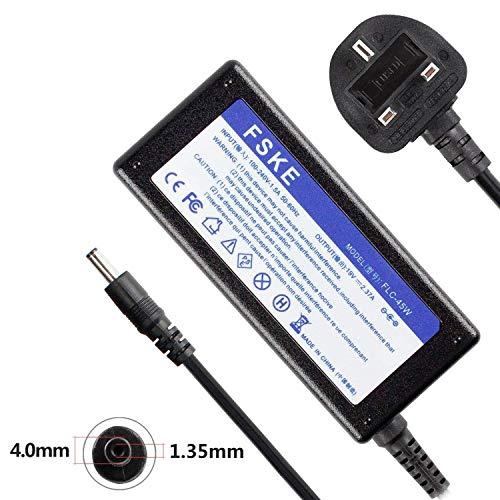 FSKE® - Caricatore per computer portatile Asus Zenbook UX305 X553M UX305F UX310U X540S X553S AC Adapter, UX31A UX330 UX330U, 4 x 1,35 mm (compatibile con 33 W 19 V 1,75 A)
