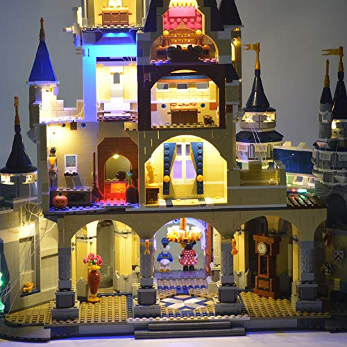 JTTM LED Light Kit for Lego 71040 Disney Castle - Lights Set Compatible with Lego 71040(Not Include Lego Model)