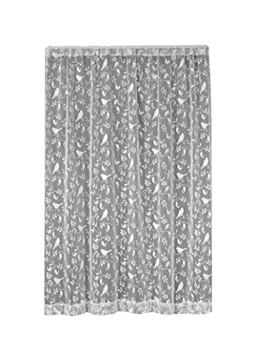 Heritage Lace, White Bristol Garden 60x63 Panel, 60 by 63-Inch