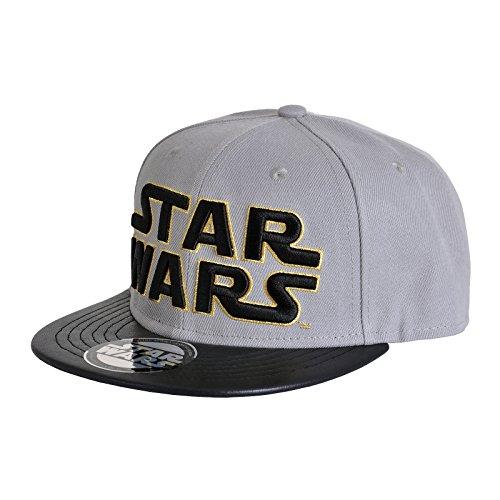 Star Wars Messieurs Snapback – Casquette Classic Logo Casquette de Baseball Gris Or