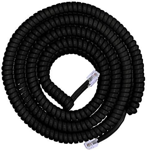 Power Gear Coiled Telephone Cord, 25 Fee