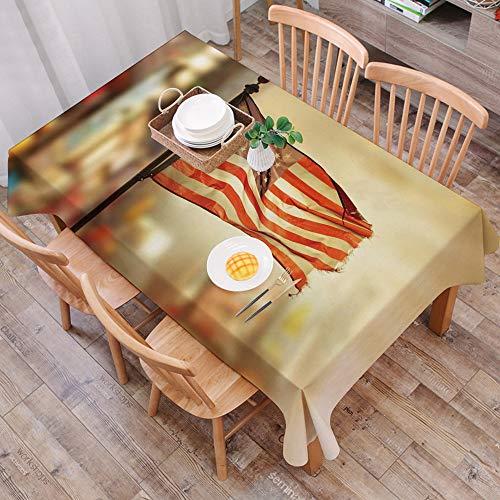 Tischdecke abwaschbar 140x200 cm,Vereinigte Staaten, amerikanische Flagge, die im nationalen Unabhängigkeitstag-Feier-Thema der Stad,Ölfeste Tischdecke, geeignet für die Dekoration von Küchen zu Hause