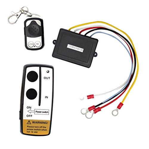 B Blesiya Interruptor Teledirigido Del Interruptor Del Cabrestante Del Camión Del Coche Encendido/Apagado con Indicador LED 12V