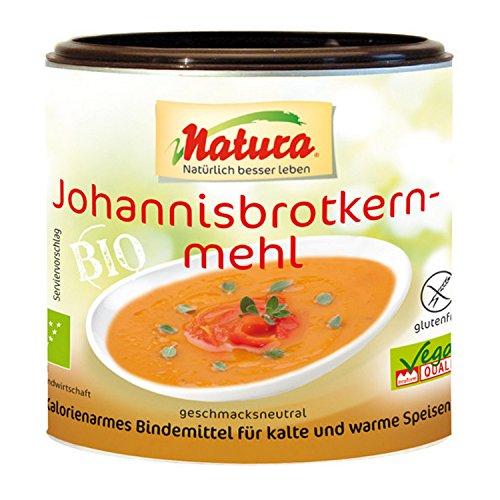 Natura Bio Johannisbrotkernmehl – 100 g – Kalorienarmes, pflanzliches Bindemittel – vegan und glutenfrei – zum Andicken und Binden - geschmacksneutral (Misc.)