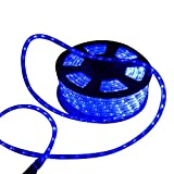 Ainfox LED Rope Light, 100Ft 1080 LEDs Indoor Outdoor Waterproof LED Strip Lights Decorative Lighting Kit (Blue)