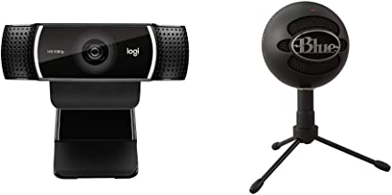 Logitech C922x Pro Stream Webcam – Full 1080p HD Camera & Blue Snowball iCE USB Mic for Recording and Streaming on PC and ...