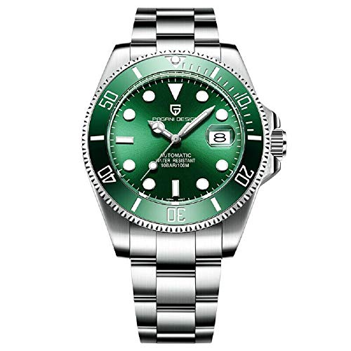 Reloj Pagani Hombres Movimiento japoneses Relojes Impermeables Verde de Zafiro primeras...