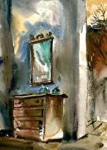 California Watercolor Fine Art Print, Chest with Mirror, by Barse Miller, 17 x 12 inches