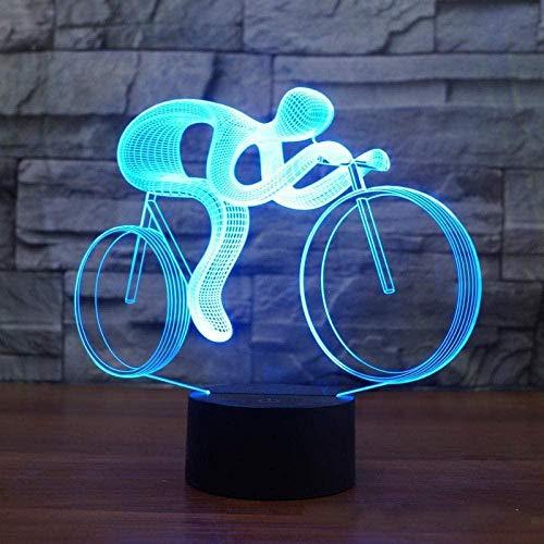 Boutiquespace 3D Symphony Bike 3D Light 7 Colors Children Bike Led Night Light Touch USB Baby Sleep Night Light