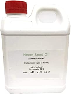 1L Organic Neem Seed Oil Pure Pharmaceutical Cold Pressed Azadirachtin Indica