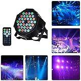 Luces de discoteca 36w 36led 7 modos de iluminación Efecto de iluminación de discoteca Luces de escenario para DJ Proyector de foco activado por sonido con micrófono de control remoto por infrarr