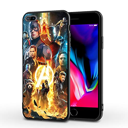 MHCOM iPhone 7 Plus Case iPhone 8 Plus Case Endgame Comic Design Cover Cases for iPhone 7/8 Plus 5.5' (Avengers-Gold)