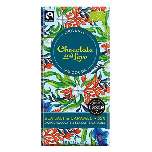 Chocolate and Love Bio Dark Chocolate with Sea Salt & Caramel (1 x 80 gr)