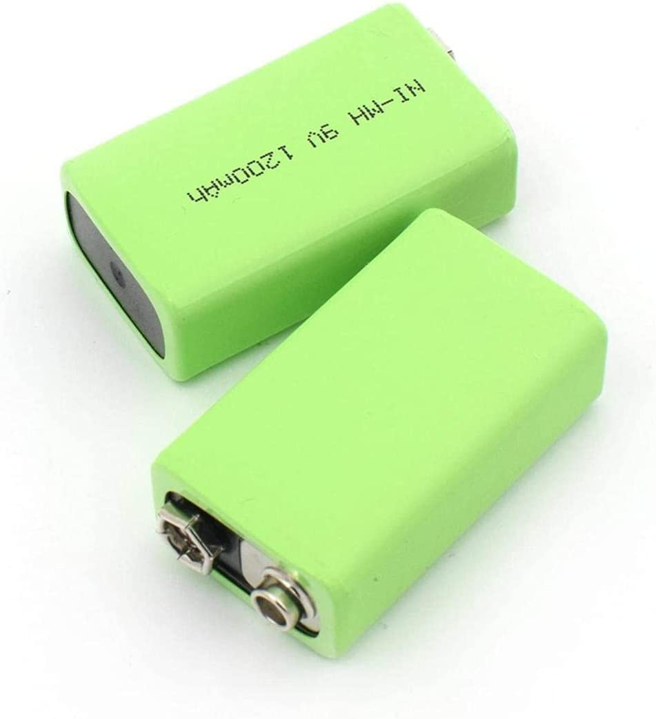 Department store 9v 1200mah Battery Rechargeable OFFicial shop NI Instruments for Wire MH Packs