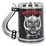Nemesis Now B4121M8 Motorhead - Taza (14 cm, resina con inserto de acero inoxidable), color negro