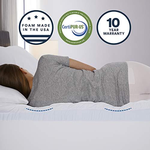 Sleep Innovations 4-inch Dual Layer Gel Memory Foam Mattress Topper Enhanced Support, King