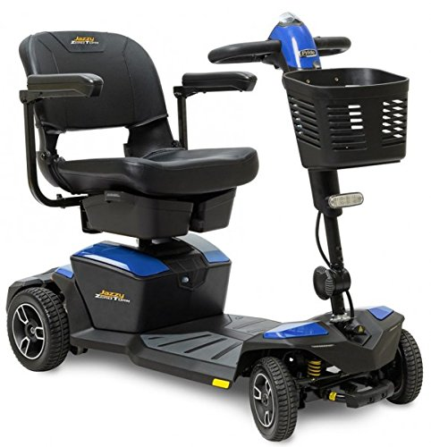 Pride Jazzy Zero Turn 4Wheel Travel Mobility Scooters, Get The Best of Both Worlds - 4 Wheel Stability Meets 3 Wheel Maneuverability (Sapphire Blue,)