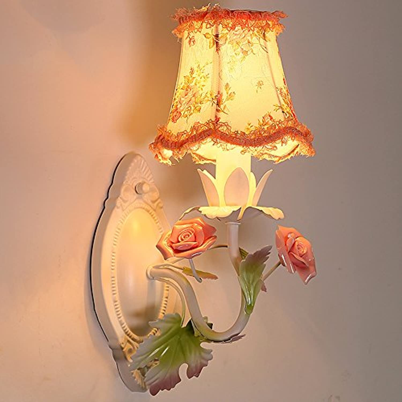 Unbekannt Zhang-Wandleuchte- Wandlampe Schlafzimmer Nachttisch Runden Kreativ Lndlich Eisen Wandlampe Gang Gang Treppe Blaumen Wandleuchten - Wandbeleuchtung Dekoration (gre   1)