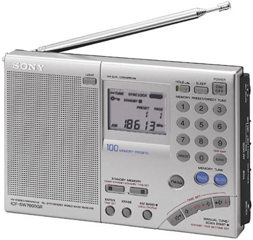 Sony ICF-SW7600GR AM FM Shortwave World Band Receiver with Single Side Band Reception
