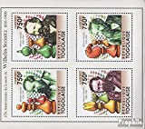 area: Togo 4009-4012 Sheetlet (complete.issue.) issue reason: 2011 William Steinitz