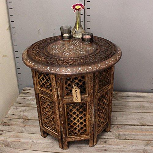 Damodar Grande table d'appoint en bois de manguier 46 cm