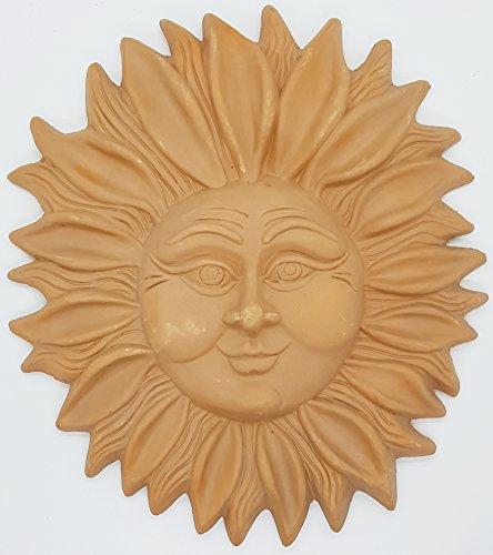 Sole da muro in terracotta Ceramica Handmade Le Ceramiche del Castello Made in Italy Dimensioni: 29 x 25 centimetri